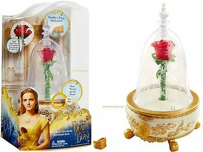 "Disney Beauty and the Beast LIGHT UP ""ENCHANTED ROSE"" Jewelry Box For Children"
