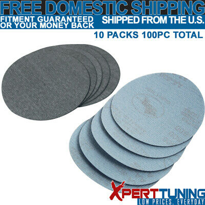 100PC 5Inch 127mm 800 Grit Auto Sanding Disc Bumper Collision Repair Sand Paper