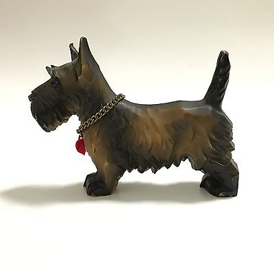 Germany Scottish Terrier With Heart Collar Resin