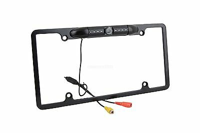 For Dodge USA License Plate Frame + Car Backup Rear View IR Night Vision Camera
