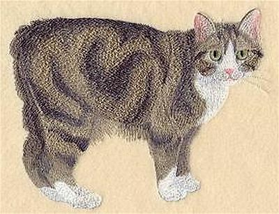 "Manx Cat, Kitty Embroidered Patch 6.3""x4.8"""