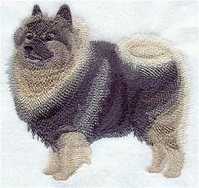 """Keeshond Dog  Embroidered Patch : 5.2"""" x 4.8"""""""