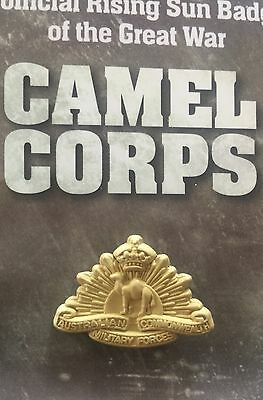 Camel Corps Lapel Pin  Remembrance Day * Memorial Day * ANZAC Day