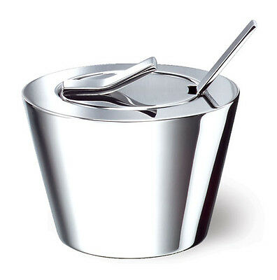 WELL Sugar Bowl with Lid and Spoon, Stainless Steel Condiment Server, (used)