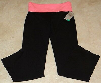 Young Girls Danskin Now Yoga Pants/Leggings w/Fold Over Waist: XS-S-M-L-XL