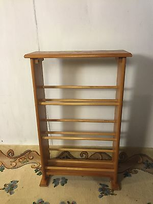 Book Stand 3 Shelves Solid Oak .See 8 pics 4Size/detail.ship Fedex$19.MAKE OFFER