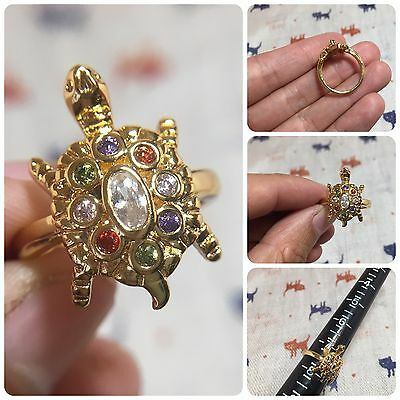 Beautiful Ring Tao Turtle Amulet Longevity Luck Rich Wealth Protect Size 7.5