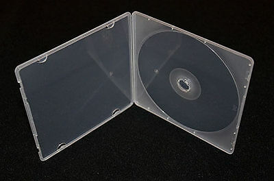 200 count - 5.2mm Slim Single Clear Poly Plastic Cases cd dvd