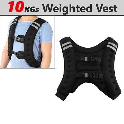 10kg Weighted Vest Adjustable Weight Vests MMA Gym Training Sports HOT
