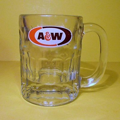 """Vtg Rootbeer (A&W 4 1/2"""" MUG) Very Heavy Glass! Great Condition 1970s Soda Cup"""