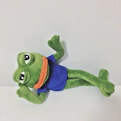 Creative pepe sad frog the frog wire plush soft toy
