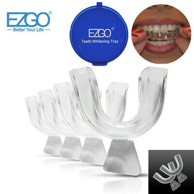 2pc Dental Thermoforming Moldable Teeth Whitening Trays Mouth Guards Bleaching