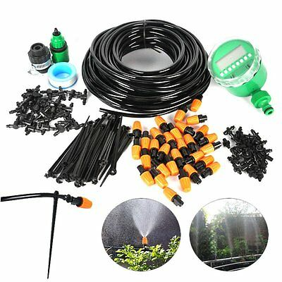 15/ 25M Auto/Manual Watering Irrigation System Sprinkler Drip Timer Garden Hose