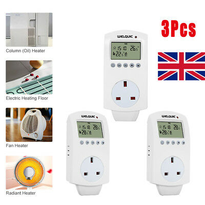 3 In1 Electric Moisture Damp Meter Concrete Log Wood Detector Temperature Tester