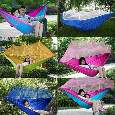 Travel Hiking Outdoor Camping Tent Hanging Hammock Bed With Mosquito Net
