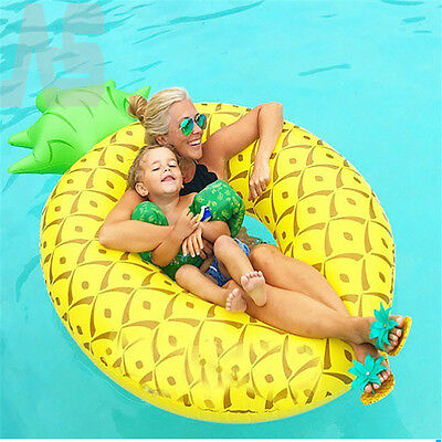 Giant Fun Pineapple Inflatable Pool Float Swimming Raft Summer Water Lounger UK
