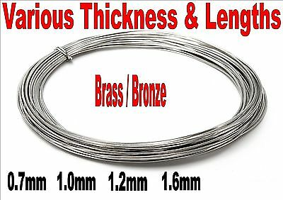 BRASS BRONZE SOLDER 60% TIN 40% LEAD CHOOSE SIZE AND LENGTH 183c MELTING POINT