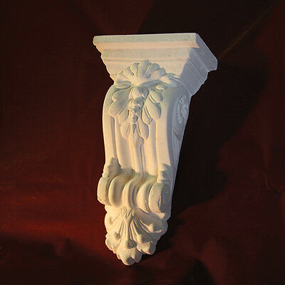 Corbel X2- Traditional Plaster Corbels. Large Scroll Design. Height 280mm