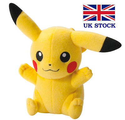 "Pokemon Pikachu Plush Soft Toy Teddy 8"" (20cm) - UK STOCK !! FAST&FREE!"