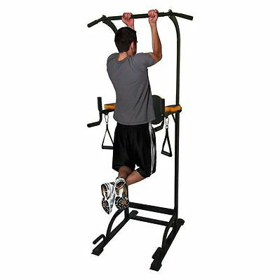 Phoenix Power Pull Up Tower Dip Station Vertical Knee Raise Chin Push Up Workout