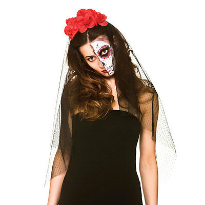 Day of the Dead Veil Fancy Dress Accessory for Walking Dead halloween Zombie Cos