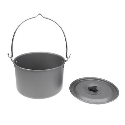Outdoor Aluminum Alloy Hanging Pot 6-8 People Cooking Camping Bonfire Party