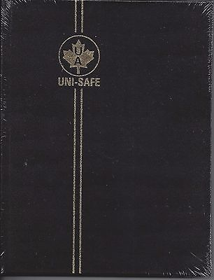 """UniSafe Crystal Clear Black Stockbook 16 Black Pages Clear Strips 6.5"""" x 8.5"""""""