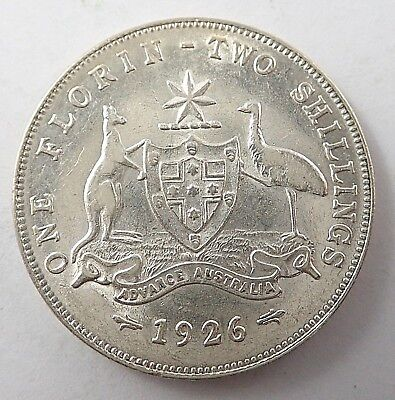 1926   AUSTRALIAN  FLORIN - aEF  CONDITION