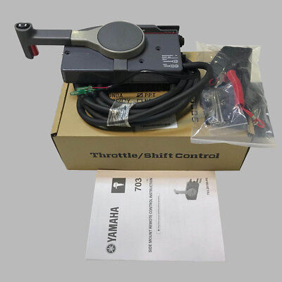 Marine oem Outboard Remote Control Box With 10Pin Cable Right Side PUSH Throttle