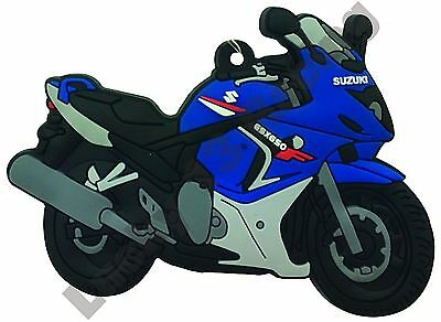Suzuki GSX 650 F rubber key ring motor bike cycle gift keyring chain