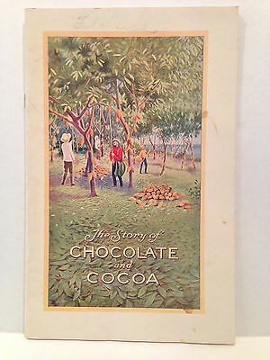 Hershey 1926 Story Of Chocolate And Cocoa Pictorial Advertising Booklet Factory