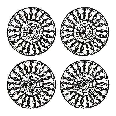 Rjr.John Rocha Set Of Four Black Wired Coasters From Debenhams