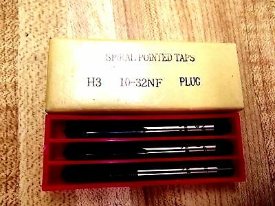 Sprial Pointed Taps H3   10-32 Nf Plug!!! Nos!!!