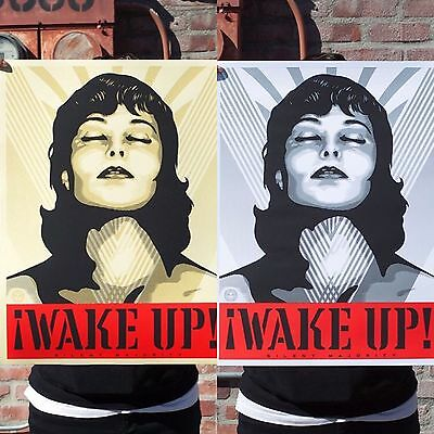 Wake Up! Poster Set Shepard Fairey Signed Numbered Art Print Obey Giant Rare