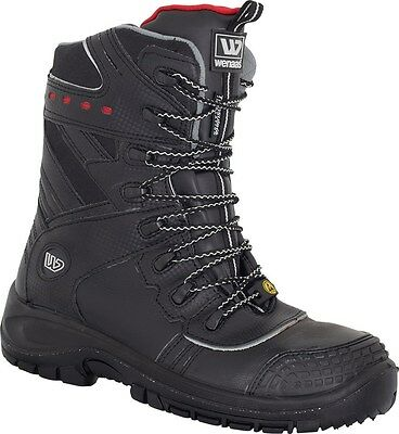MENS SAFETY BOOTS Wenaas OilMaster S3 SRC ESD Metal Free Toe Cap Leather sizes 5