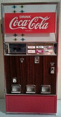 1996 Diecast Coca Cola Musical Vending Machine Numberd Coin Bank In Box