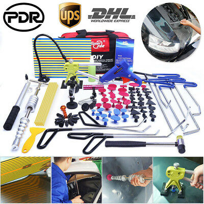 PDR Rods Tools Paintless Dent Repair Removal Dent Lifter Spring Steel Puller Kit