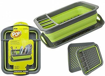 Pop Folding Dish Drainer compact, lightweight for Camping, Caravans or Home