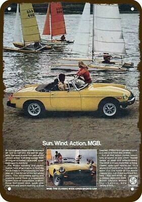 1978 MGB Convertible Sports Car Vintage Look Replica Metal Sign - MG - SAILBOATS