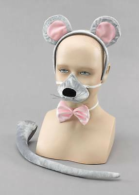 FANCY DRESS Mouse set with sound Ears, nose, bow tie, tail