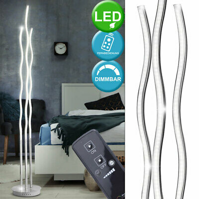 30 Watt LED floor lamp remote control living room waves design lamp dimmable new