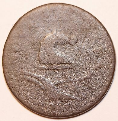 Very rare variety. . 1787 M 38-Z R5 New Jersey Colonial Copper Cent Coin 1c