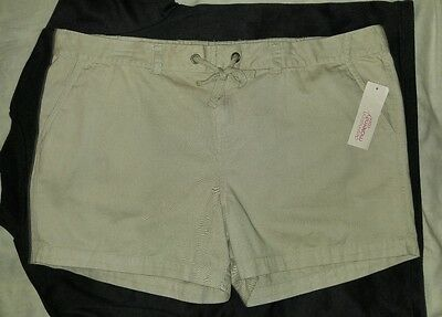 Motherhood Maternity Khaki Cargo Shorts Size XL NWT