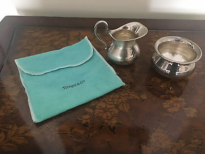 Tiffany & Co STERLING SILVER .925 Lovely GERMANY Creamer and Sugar Bowl Set