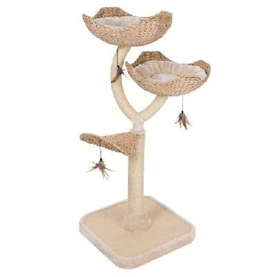 Flower Shaped Indoor Scratching Post Cat Kitten Tree NEW