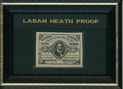 Five Cent Note Third Issue Fractional Currency Laban Heath Proof 1870's Superb