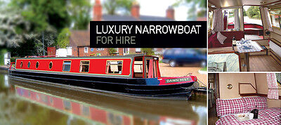 Narrowboat Hire Holiday, on a luxury  6-8 berth narrowboat. Weekends available