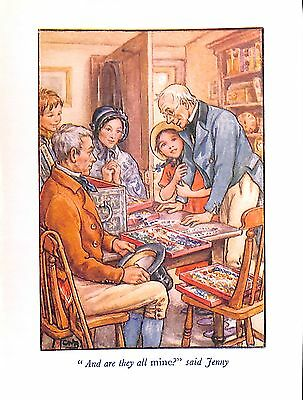 Childrens print.1923.Cicely Mary Barker.Family.Jenny.Antique.Genuine.Old