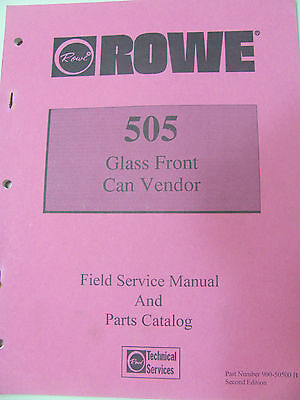 ROWE 505 GLASS FRONT CAN DrinkVendor (2) Service manuals Second & Third edition