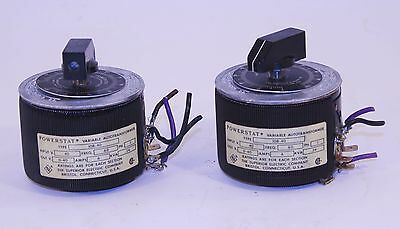 Type 10B-40 Powerstat VARIABLE Transformer SUPERIOR Electric 6 Amp LOT of 2